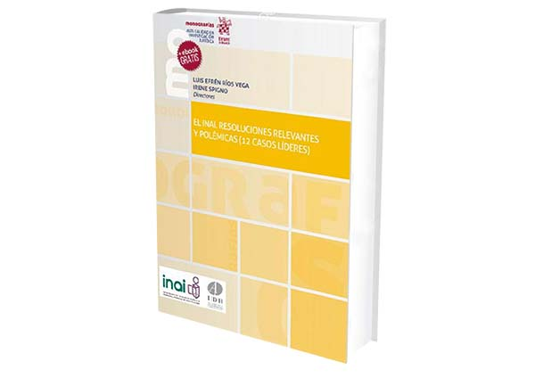 foro jurídico libro-El INAI-Resoluciones Relevantes