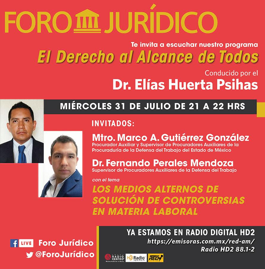 foro jurídico MEDIOS ALTERNOS