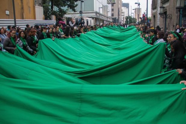 Marea verde a favor del aborto