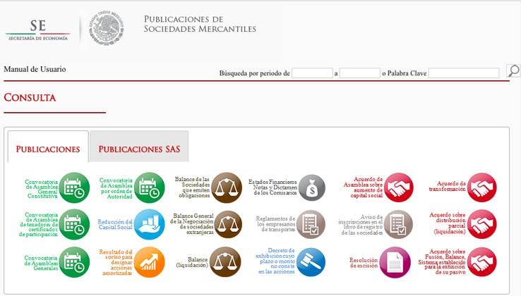 Foro Jurídico Sistema de publicaciones mercantiles