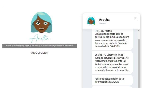 foro jurídico Aretha el chat bot que responde dudas legales frente al Covid-19 gratis
