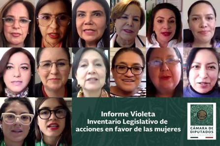 foro jurídico informe violeta acciones legislativas a favor de la mujer