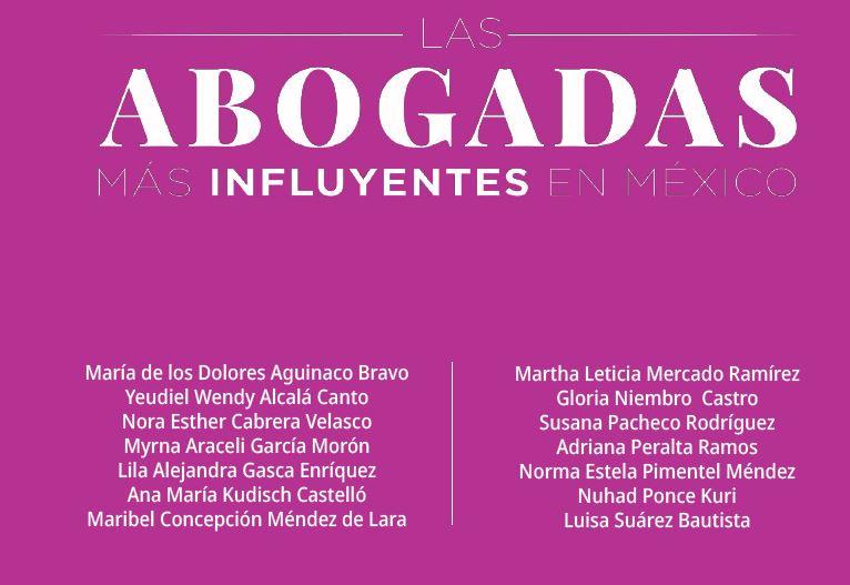 foro jurídico Las Abogadas Más Influyentes en México 2021