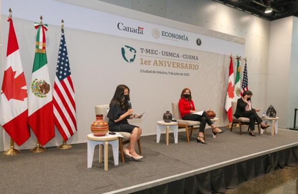 foro jurídico Visitan México representantes comerciales de E.U y Canadá por primer aniversario del T-MEC