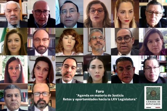 foro jurídico Diputadas, magistrados, especialistas e investigadores externan opiniones en materia de justicia