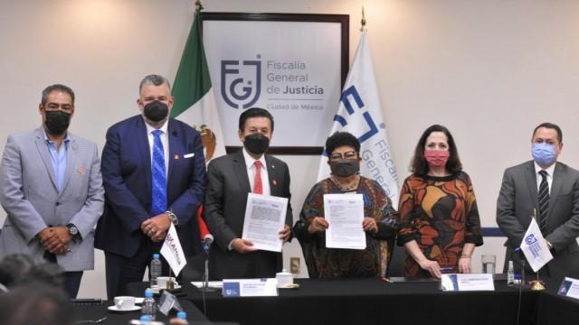 FGJCDMX y la Asociación Mexicana de Empresas de Seguridad Privada firman convenio