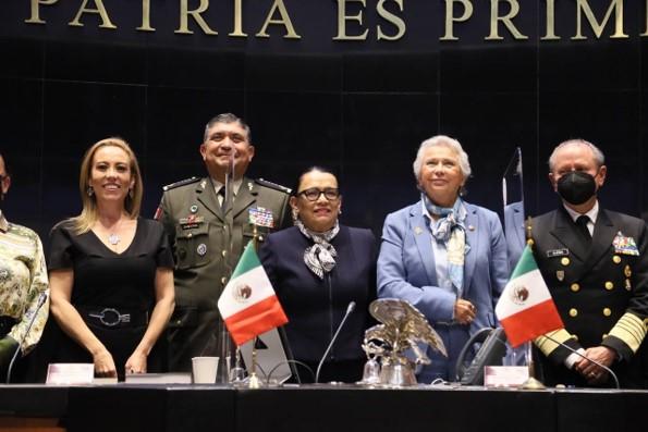 foro jurídico Rosa Icela comparece ante el Sendo